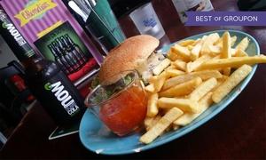 Blondies Diner: Burger aus Bio-Rindfleisch oder Veggie mit Pommes und Dips für 2 bis 6 Personen im Blondies Diner (bis zu 43% sparen*)