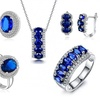Lab-Created Sapphire Tri-Sets