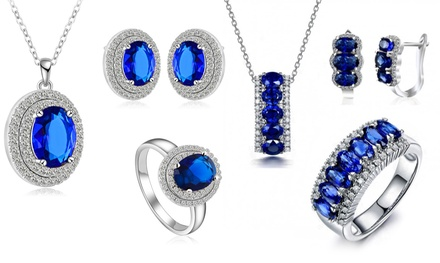 Lab-Created Sapphire Tri-Sets from AED 129 With Free Delivery (Up to 90% Off)