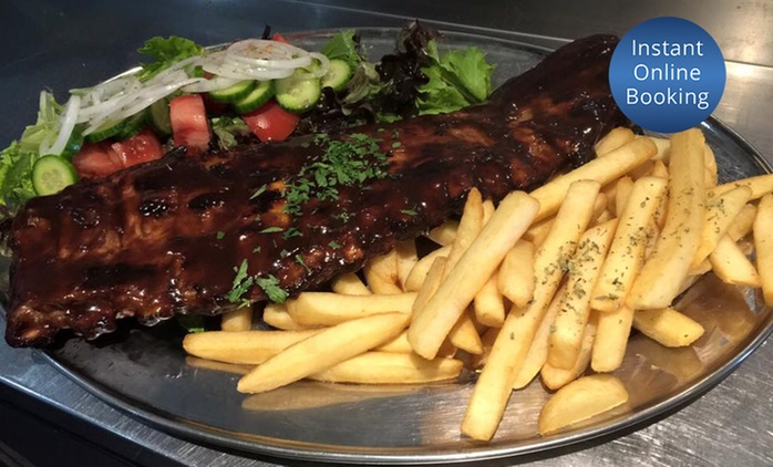 Two-Course Rib Dinner and Wine for Two ($49), Four ($98), or Eight ($196) at Harry's Grill, Arncliffe (Up to $378 Value)