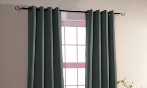 Paire de doubles rideaux