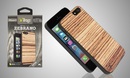 iFrogz Zabrano Natural Wood Cover for iPhone 5