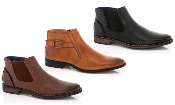 Adolfo Men's Zipper Chukka Boots