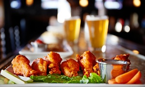 Lucky's Sports Bar: 10 Wings and Pitcher of Domestic or Craft Beer, or $12 for $20 Worth of Bar Food at Lucky's Sports Bar
