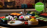 Asian Dinner Buffet and Wine for 2 ($49) or 4 People ($98) at Four Points By Sheraton Brisbane Dining (Up to $198 Value)