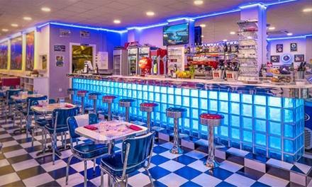 Menú americano para 2 o 4 con entrante, hamburguesa o sándwich y bebida desde 14,99 € en Marilyn's