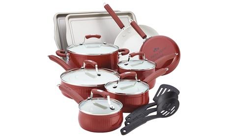 Paula Deen Savannah Collection Aluminum 17-Piece Cookware Set with Bakeware 21361922-2091-11e7-a79c-002590604002