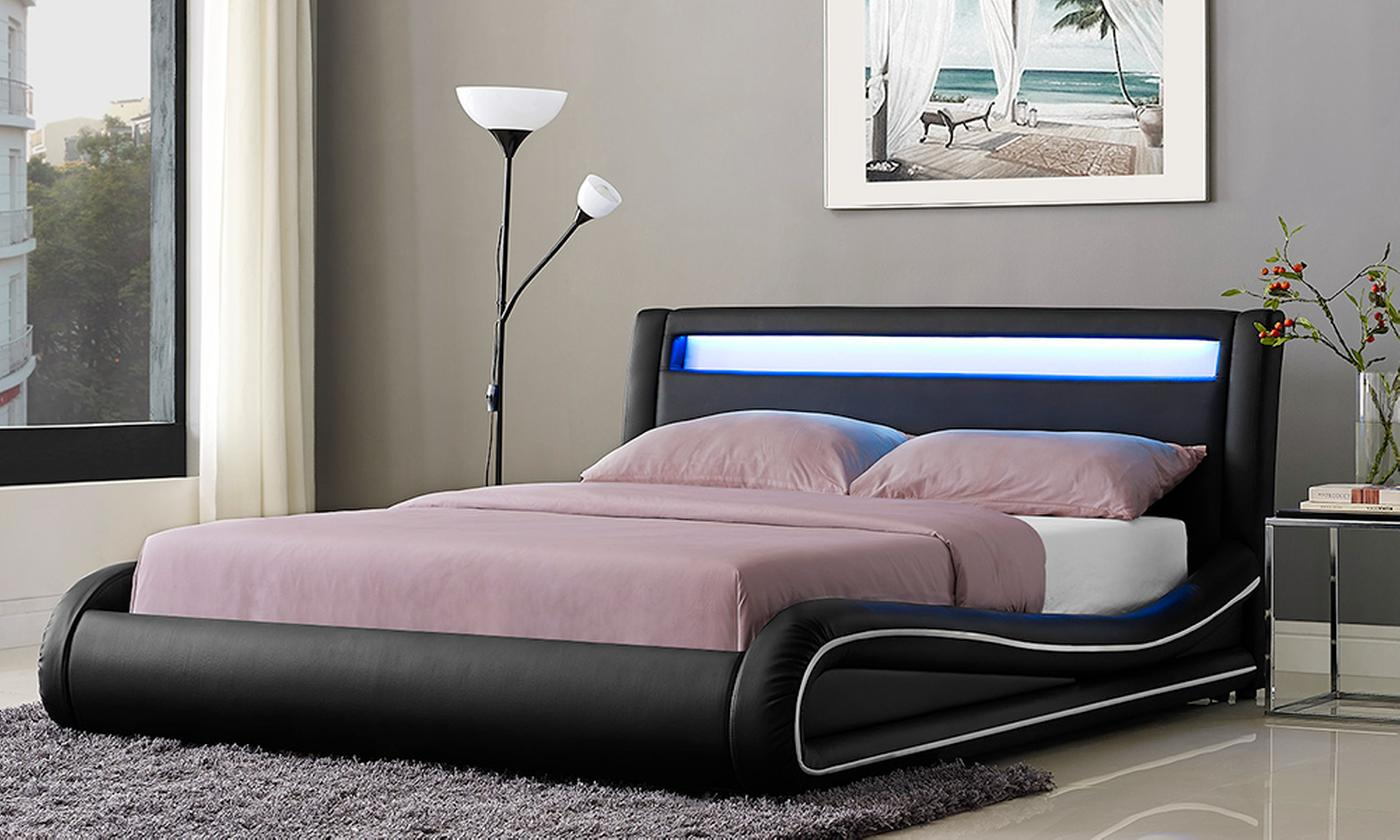 Omega LED Bed Frame with Optional Mattress (£360)