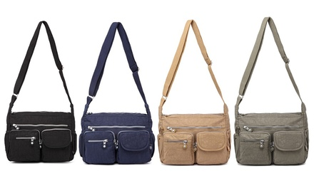 Women's Multi-Compartment Cross-Body Bag