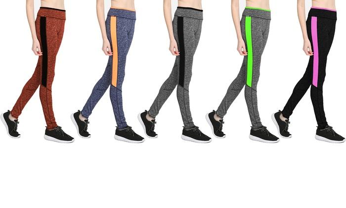 Women's Two-Tone Athletic Leggings