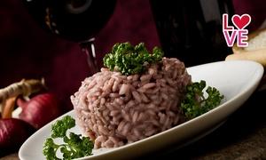 Locanda Vecia Osteria: Menu della passione con risotto con petali di rosa, manzo all'amarone, dolce e calice di vino da Locanda Vecia Osteria