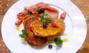 Green Land Cafe: French Toast with Bacon, Mixed Berries and Maple Syrup For Up to Four at Green Land Cafe (Up to 56% Off)