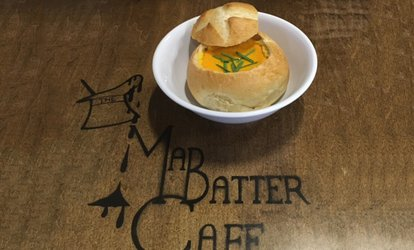 image for Café Food for Two or Four at The Mad Batter Cafe & Bakery (40% Off)