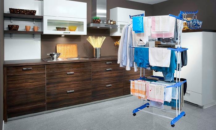 Groupon Goods Global GmbH: Tendedero XXL para ropa por 29,90 € (70% de descuento)