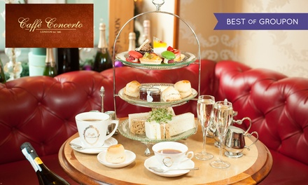 Afternoon Tea with Optional Prosecco for Two or Four at Caffe Concerto, Multiple Locations (Up to 36% Off)