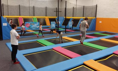 One or Two Hours of Trampoline Jumping for Up to Four at i-Bounce (Up to 35% Off)