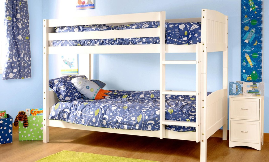 Pine Bunk Bed Frame with Two Optional Mattresses