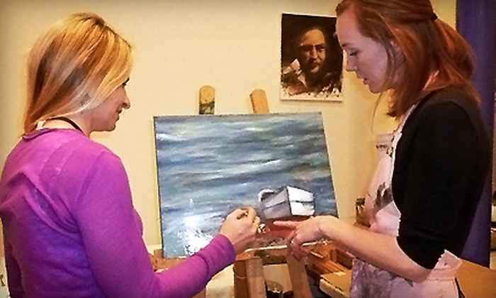 Poshin Paint - Peachtree City: Canvas-Painting Class for Two, Four, or Eight at Poshin Paint (Up to 57% Off)