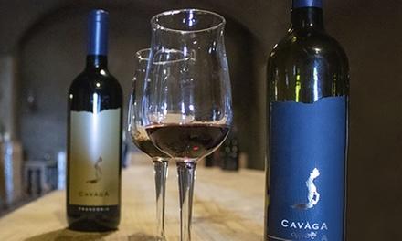 Visita alle cantine Cavaga con degustazione vini, salumi e formaggi e bottiglie in casse personalizzate