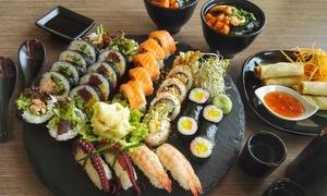 Hoshi Sushi: Zestaw dla dwojga: sushi, bulion z łososia, sajgonki i więcej za 84,99 zł w Hoshi Sushi (zamiast 144 zł)