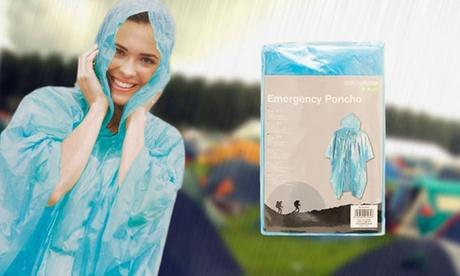 1, 2, 3 o 4 ponchos de lluvia desechable desde 3,99 €