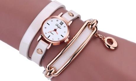 Reloj enrollable con pulsera para mujer