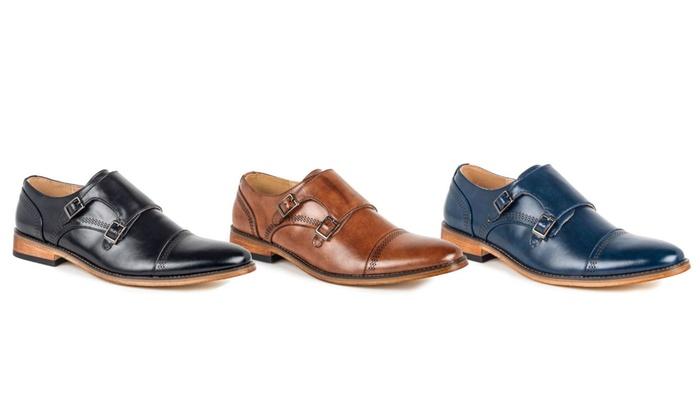 0aed31ed0033 Signature Men s Double Monk Strap Capital Dress Shoes