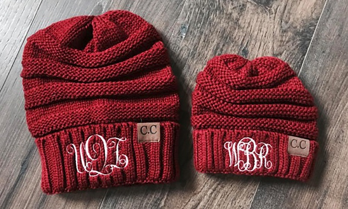 One, Two, Three, Five, or 10 Personalized Embroidered Beanies for Adults or Kids from Qualtry (Up to 86% Off)