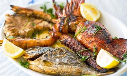 ⏰ Menu grigliata di pesce e vino