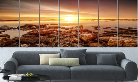 Extra Large Landscape and Cityscape Canvas 7-Panel Wall Art