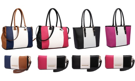 Sutton Stripe Handbag and Purse Set for £22.98