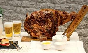 PrimaGamba: Desde $909 por pernil de cerdo para 20 o 40 personas + panes + salsas en PrimaGamba