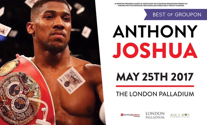 An Evening with Anthony Joshua, 25 May, London Palladium (Up to 39% Off)