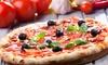 Menu maxi pizza o calzone con vino