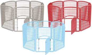 IRIS 8-Panel Pet Playpen with Door
