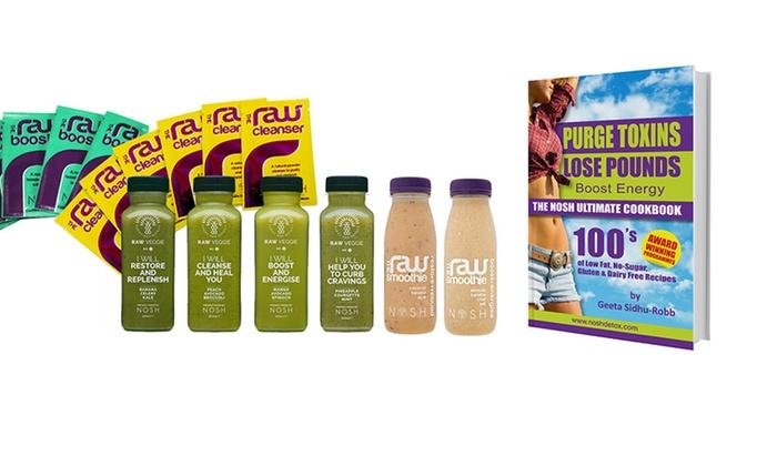 Nosh Detox Delivery: Nosh Raw Three-Day Smoothie Diet Pack for £49.99 (70% Off)