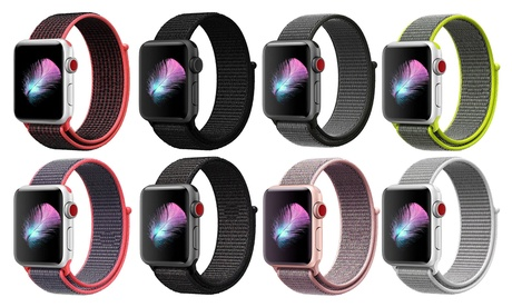 Nylon Sports Loop Breathable Weave Band for Apple Watch Series 1, 2, 3