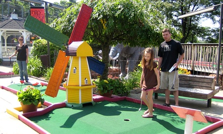 18 Holes of Mini Golf for Two or Four with Soft Drinks or Icees at Putterz (Up to 58% Off)