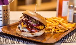 Honig & Senf Burger Grill: Burger nach Wahl inkl. Pommes frites für 2 oder 4 Personen bei Honig & Senf Burger Grill (27% sparen*)