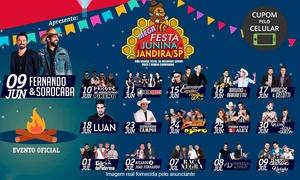MS Produções: Festa Junina de Jandira 2017 - Polo Industrial II: 1 ingresso ou combo (o evento acontece entre 09/06 e 09/07)