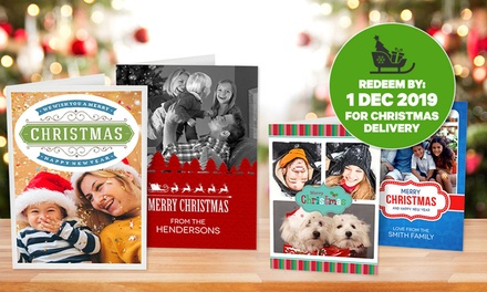 Personalised Christmas Cards: 12-Pack (from $5), 24-Pack (from $9) or 36-Pack (from $12) (Don't Pay up to $149.85)