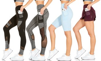 Traq65 by RAG Women's Active Leggings or Shorts. Plus Sizes Available.