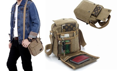 Multifunctional Canvas Traveling Bag Leather