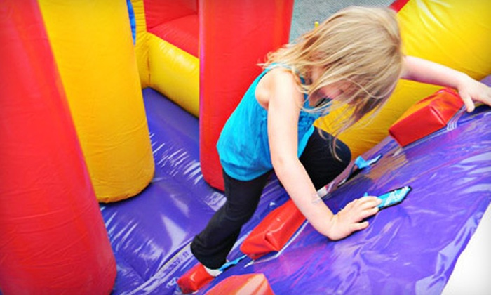BubKat Bounce! - Clifton Park: All-Day Bounce-House Outing with Hot-Dog Meals for Two or Four at BubKat Bounce! In Clifton Park (Up to 54% Off)