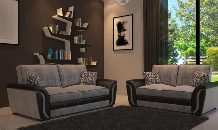 Superb Brazil 3 2 Formal Back Sofa Set Groupon Goods Pabps2019 Chair Design Images Pabps2019Com