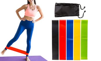 5 Resistance Bands with Bag