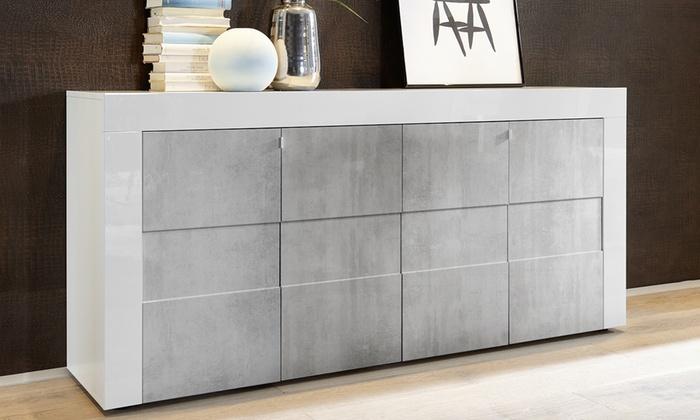 Fino a 61% su Mobili soggiorno bianco cemento | Groupon