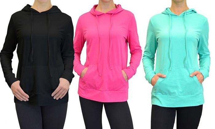 Women's Lightweight Cotton Hoodies (3-Pack)