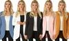 Lyss Loo Women's Brushed Microfiber Long-Line Cardigan: Lyss Loo Women's Brushed Microfiber Long-Line Cardigan