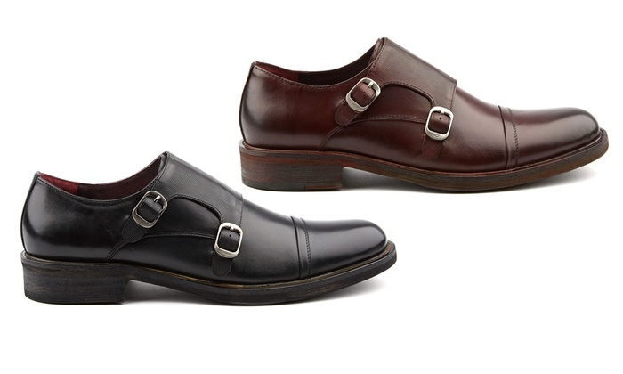 Men's Mock Monk Strap Dress Shoes